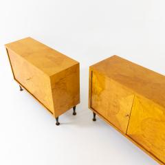 Pair of Scandinavian Mid Century Two Door Low Cabinets - 2002515