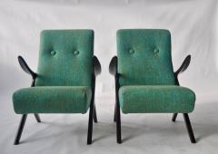 Pair of Sculptural Danish Lounge Chairs - 556560