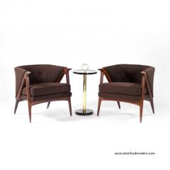 Pair Of Sculptural Danish Modern Lounge Chairs 1950s   221941