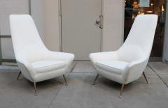 Pair of Sculptural Italian Tall Back Armchairs - 1720236