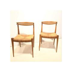 Pair of Side Chairs by Guillerme et Chambron - 1397577