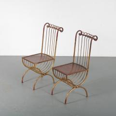 Pair of Side Chairs by S Salvadori Italy 1950 - 1531911