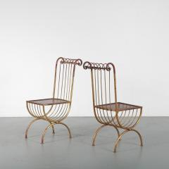 Pair of Side Chairs by S Salvadori Italy 1950 - 1531914