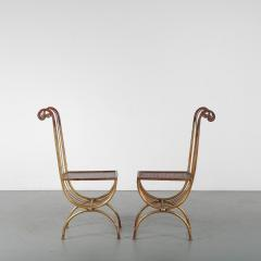 Pair of Side Chairs by S Salvadori Italy 1950 - 1531918