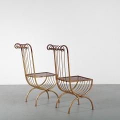 Pair of Side Chairs by S Salvadori Italy 1950 - 1531919