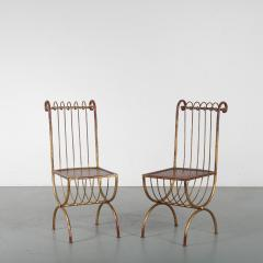 Pair of Side Chairs by S Salvadori Italy 1950 - 1531920