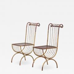Pair of Side Chairs by S Salvadori Italy 1950 - 1532177