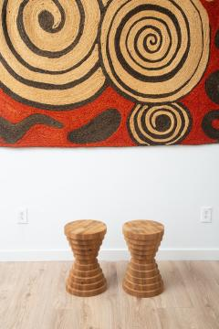 Pair of Side Tables Stools - 1900175