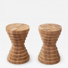 Pair of Side Tables Stools - 1902281