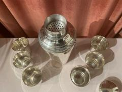Pair of Silver Cocktail Shakers and Cocktail Cups - 1807004
