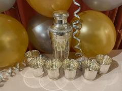 Pair of Silver Cocktail Shakers and Cocktail Cups - 1807005