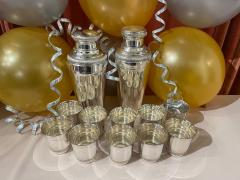 Pair of Silver Cocktail Shakers and Cocktail Cups - 1807006