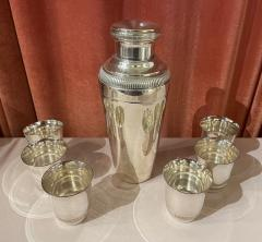 Pair of Silver Cocktail Shakers and Cocktail Cups - 1807008