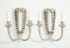 Pair of Silver Double Arm Sconces - 855462