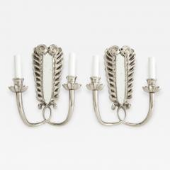 Pair of Silver Double Arm Sconces - 862288