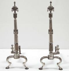 Pair of Silver Plate Andirons - 838475