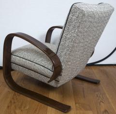 Pair of Sleek Mid Century Halabala Style Lounge Chairs - 925069