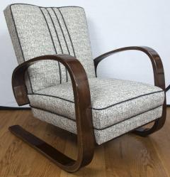 Pair of Sleek Mid Century Halabala Style Lounge Chairs - 925070