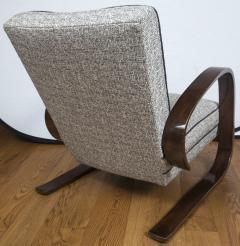 Pair of Sleek Mid Century Halabala Style Lounge Chairs - 925071