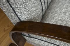 Pair of Sleek Mid Century Halabala Style Lounge Chairs - 925072