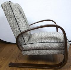 Pair of Sleek Mid Century Halabala Style Lounge Chairs - 925074