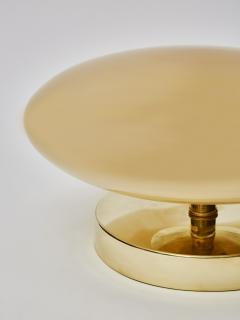 Pair of Small Brass and Glass Table Lamps - 1690262