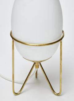 Pair of Small Eggs Looking Table Lamps with Brass Feet - 1706931