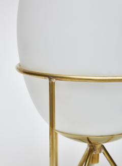 Pair of Small Eggs Looking Table Lamps with Brass Feet - 1706932