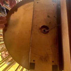 Pair of Space Age Brass Green Murano Glass Half Sputnik Flush Mounts Sconces - 1644285