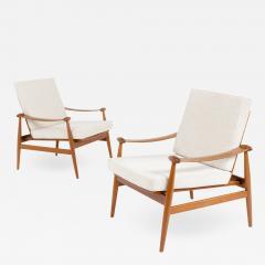 Pair of Spade Armchairs by Finn Juhl - 1947271