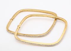Pair of Square shape Diamond Bangle Bracelets - 1534922