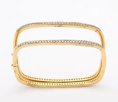 Pair of Square shape Diamond Bangle Bracelets - 1534927