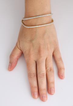 Pair of Square shape Diamond Bangle Bracelets - 1534931