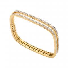 Pair of Square shape Diamond Bangle Bracelets - 1535737
