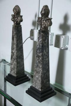 Pair of Stone and Ceramic Architectural Elements - 364667