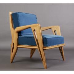 Pair of Stunning Armchairs att to Campo Graffi Italy 1950s - 1963531