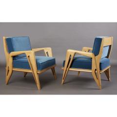 Pair of Stunning Armchairs att to Campo Graffi Italy 1950s - 1963556