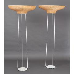 Pair of Stunning Floor Lamps in Woven Rattan - 1306673