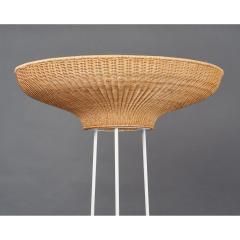 Pair of Stunning Floor Lamps in Woven Rattan - 1306675