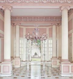 Pair of Sumptuous Pink and Heavenly Murano Glass Chandeliers 1990s - 1984167