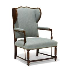 Pair of Swedish Art Deco Winged Back Armchairs - 736849