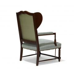 Pair of Swedish Art Deco Winged Back Armchairs - 736850