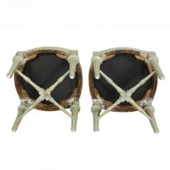Pair of Swedish Neoclassic Painted Footstools - 1532660
