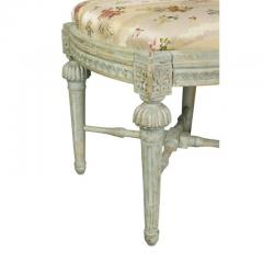 Pair of Swedish Neoclassic Painted Footstools - 1532661