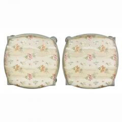 Pair of Swedish Neoclassic Painted Footstools - 1532663