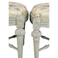 Pair of Swedish Neoclassic Painted Footstools - 1532664
