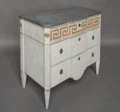 Pair of Swedish Neoclassical Commodes with Greek Key Detail - 606777