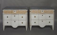 Pair of Swedish Neoclassical Commodes with Greek Key Detail - 606780