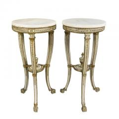 Pair of Swedish Neoclassical Giltwood and Painted Torchere - 1532374
