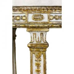 Pair of Swedish Neoclassical Giltwood and Painted Torchere - 1532376